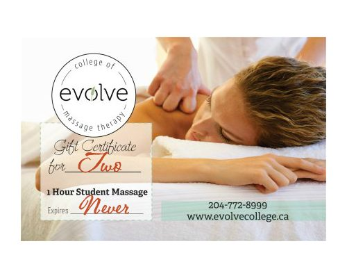 ENTER TO WIN 2 FREE MASSAGES